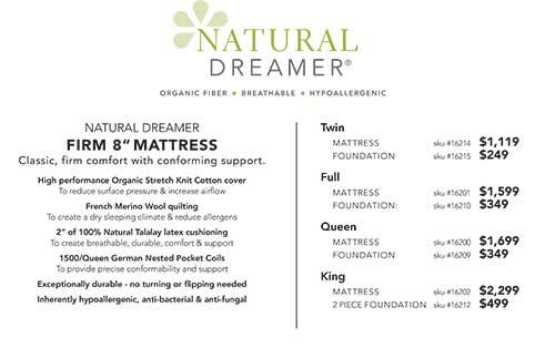 "Circle Furniture Natural Dreamer Firm 8"" Mattress"