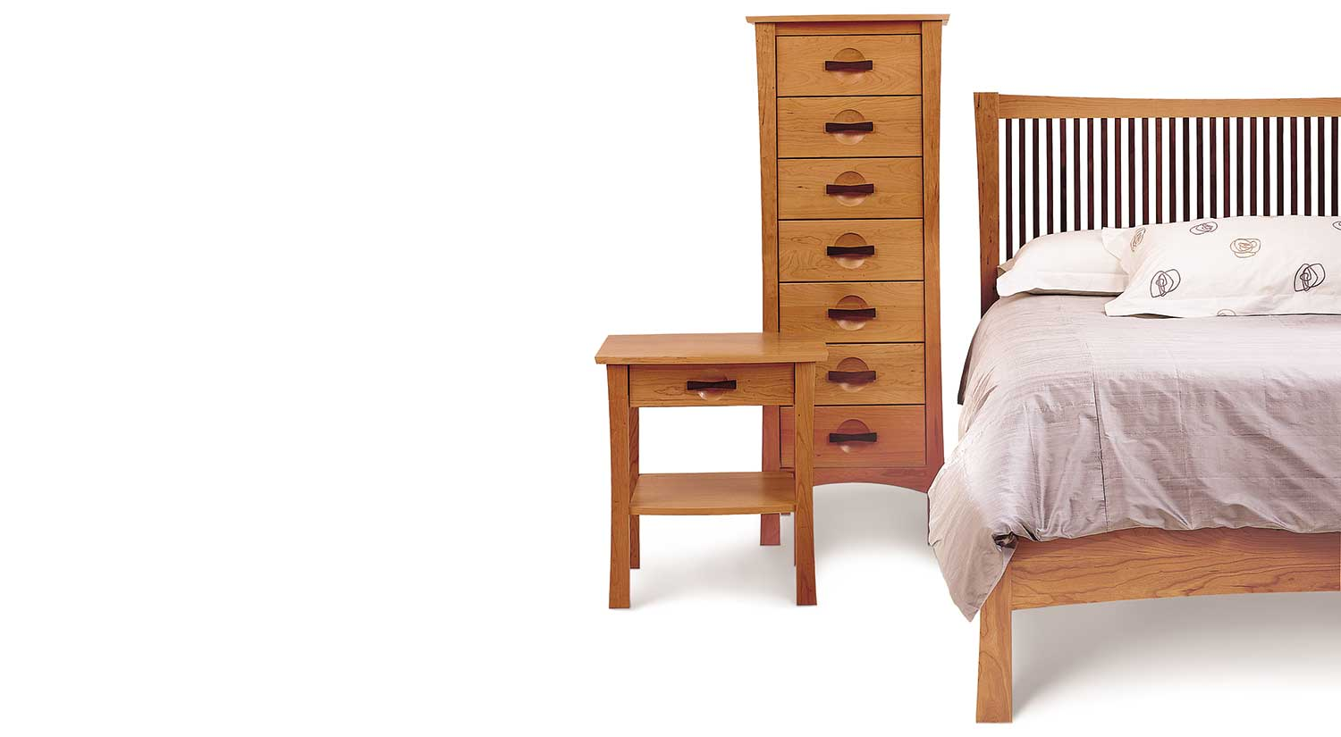 Circle Furniture Berkeley Bed Cherry And Walnut Beds