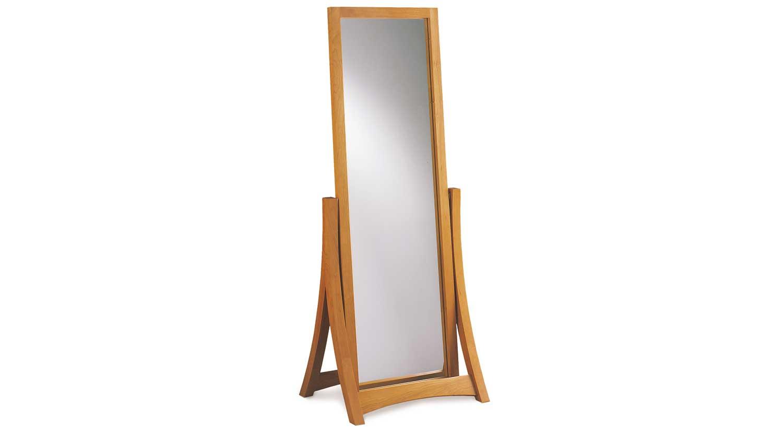 Circle furniture berkeley floor mirror wood mirrors for Wood floor length mirror