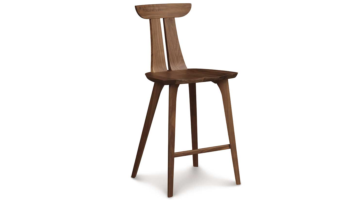 Circle furniture estelle counter stool cherry counter for Counter bar stools