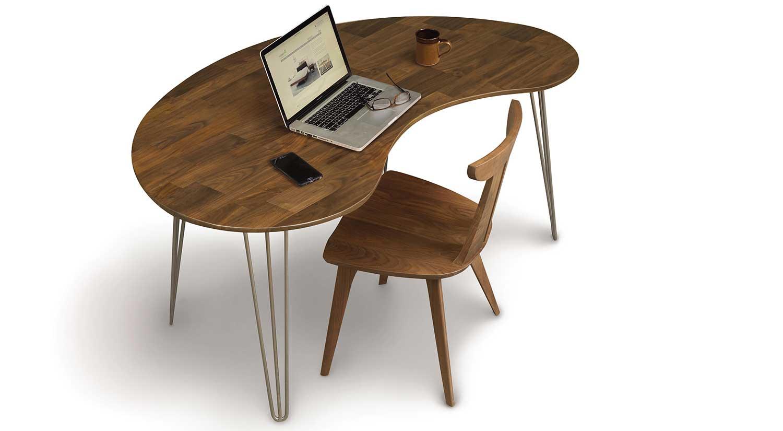 Circle Furniture Kidney Desk Modern Desk Mid Century
