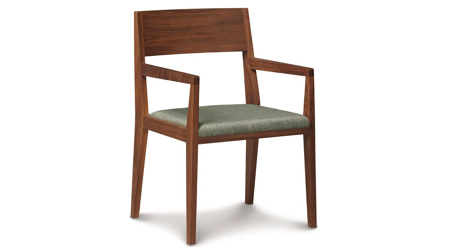 Circle furniture kyoto arm chair wood arm chairs for Wood dining chairs with arms