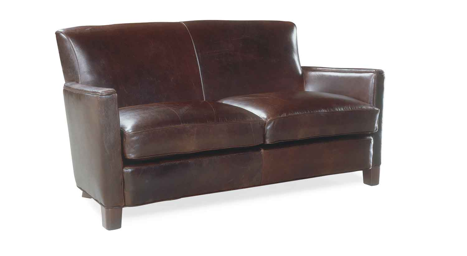 Circle Furniture Trent Leather Loveseat Loveseats