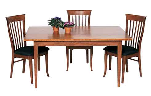 Circle Furniture Round Taper Leg Table Dining Tables