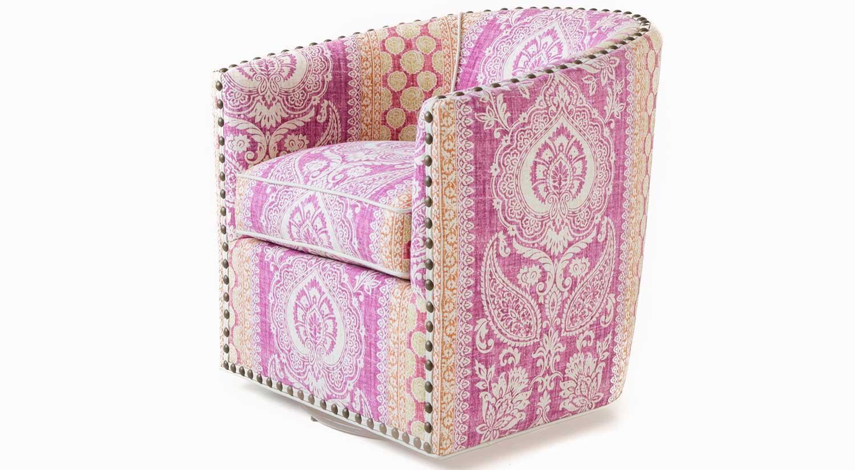 Circle Furniture Sally Swivel Barrel Chair Swivel