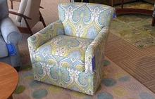 Shelburne Swivel Chair in Fountain