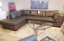 Circle Furniture Astoria Sectional In Charcoal