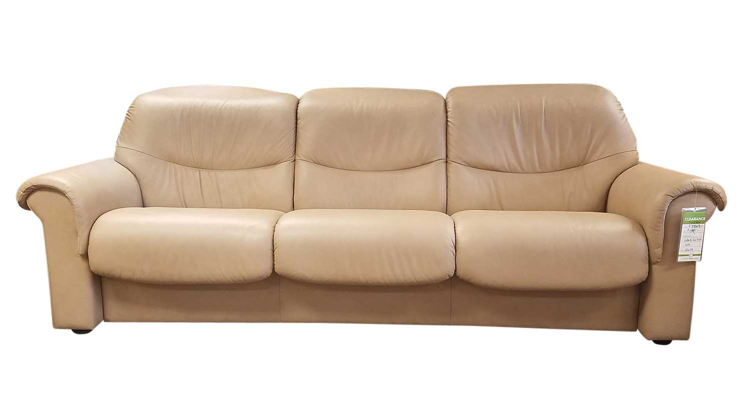 Circle Furniture Liberty Lowback Stressless Sofa In Sand