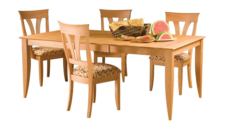 Circle furniture saber leg dining table dining tables for Circle furniture dining tables