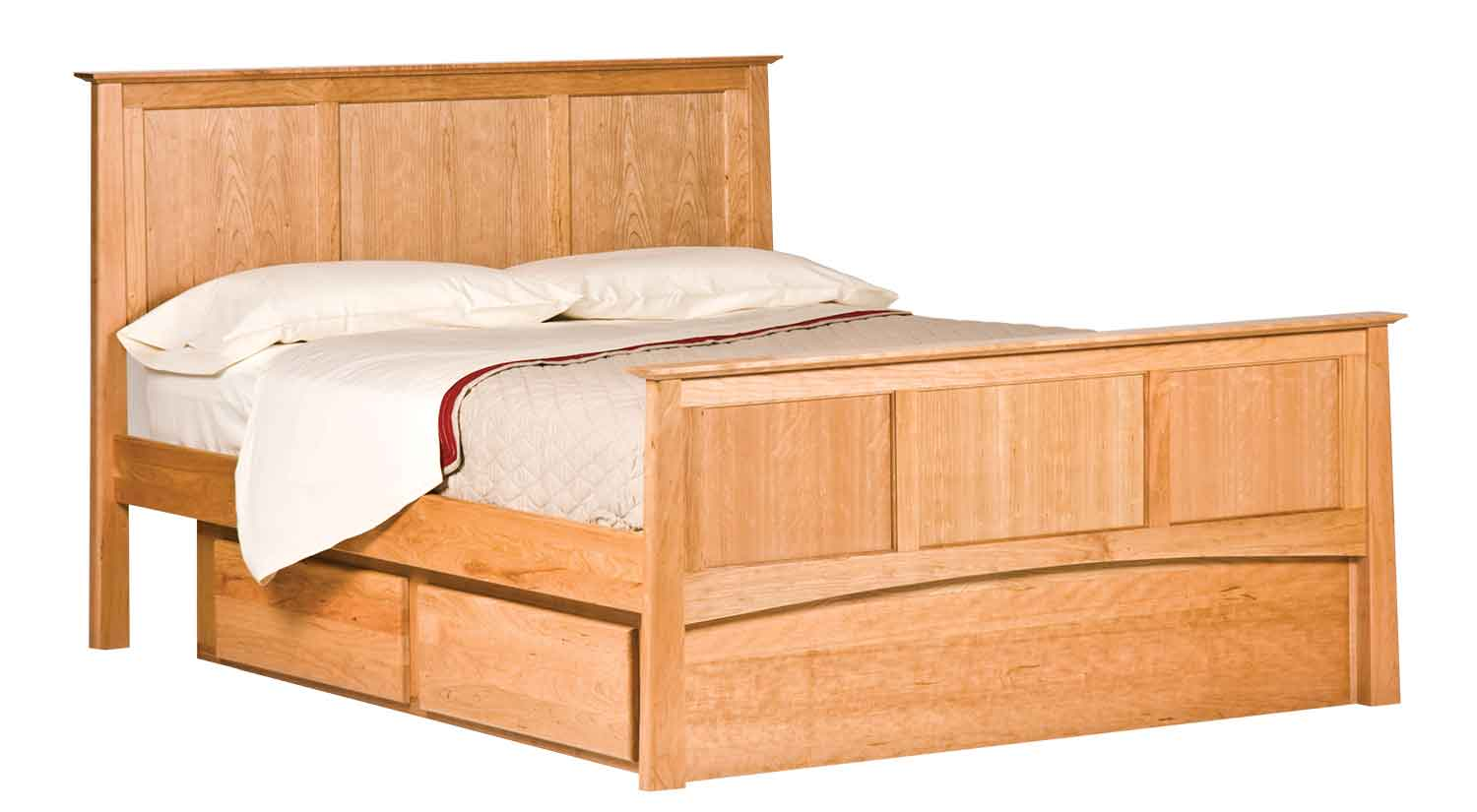 Circle Furniture Willow Panel Bed Bedroom Furniture Ma