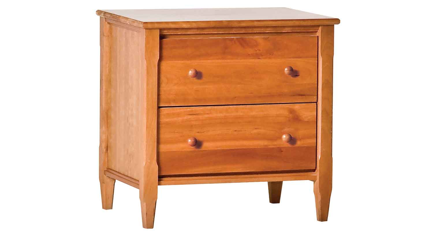 Circle Furniture Shaker Two Drawer Night Stand Bedroom