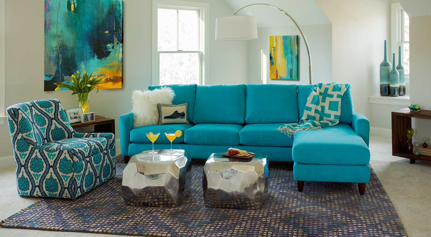 Circle Furniture Bennet Sectional Modern Sectionals Boston