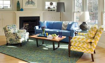 Shop this room: Living - Society Blue