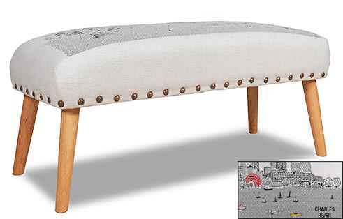 Boston Skyline Ottoman