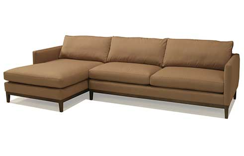 Porter Sectional with Wood Base