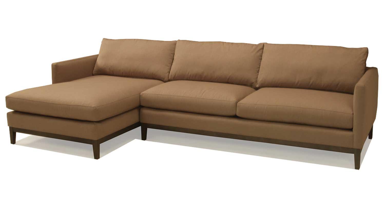 Circle Furniture Porter Sectional Plinth Wood Base Modern Sofa Circle Furniture