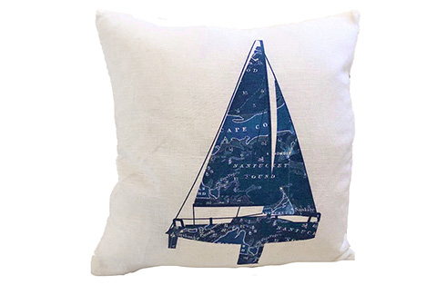 Cape Cod and the Islands Yacht I Pillow
