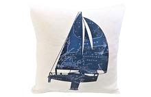 Cape Cod and the Islands Yacht II Pillow