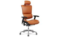 X4 Leather Exec Office Chair in Cognac