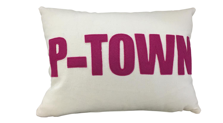 P Town Pillow