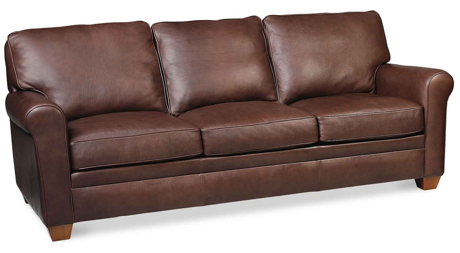 Circle furniture braxton sofa leather sofas danvers for Furniture leather sofa