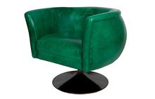 Korin Swivel Chair in Mont Blanc Emerald