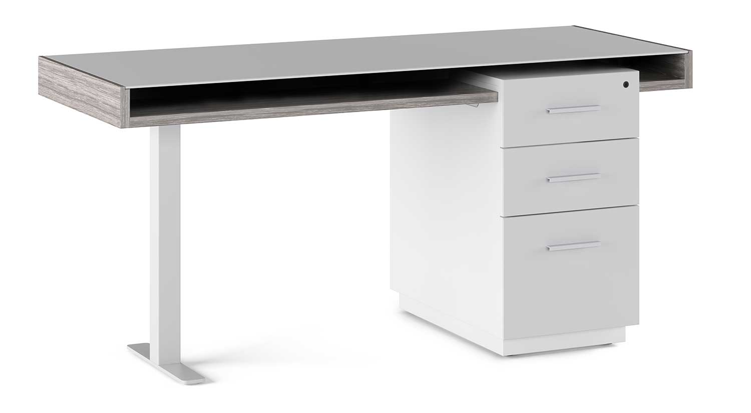 Circle Furniture - Duo Desk | Glass Top, Modern, and ...