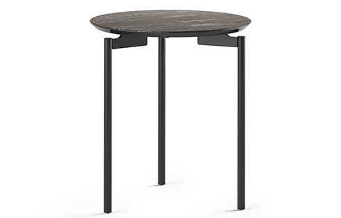 Radius Round End Table in Ferous