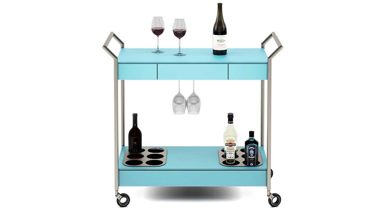 Circle furniture verra mobile bar cart bar furntiure for Mobili bar cart