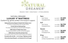 Natural Dreamer Luxury Mattress