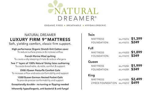 Natural Dreamer Luxury Firm Mattress