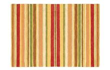 Sheffield Stripe Rug in Poppy