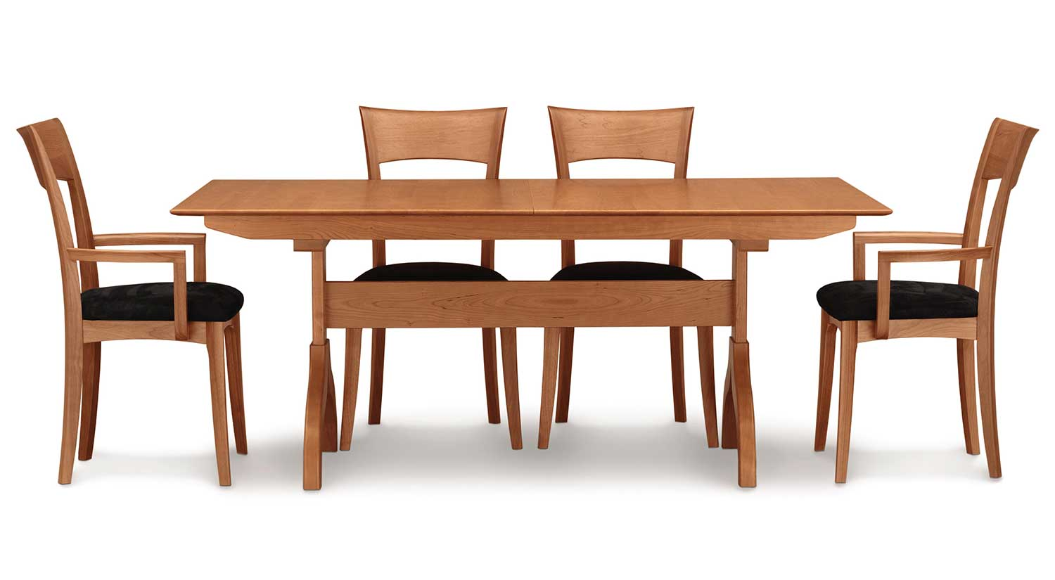 Circle furniture sarah trestle table shop for dining for Shop dining tables