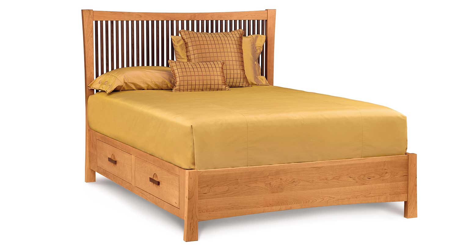 Circle Furniture - Berkeley Storage Bed | Solid Wood Bed | Cherry ...