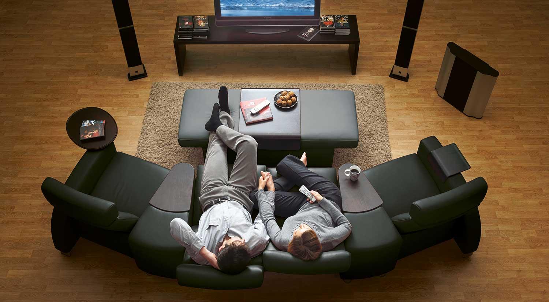 Circle Furniture Arion Stressless Highback Loveseat