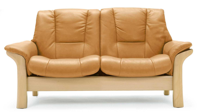 Circle Furniture Stressless Buckingham Lowback Loveseat