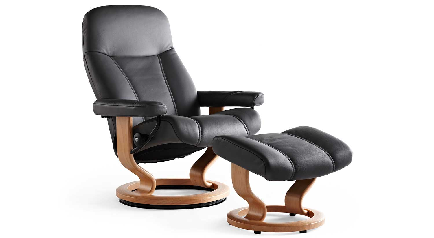 Stressless consul small chair and stool in batick leather - Consul Stressless Chair And Otto Consul Stressless Chair And Otto