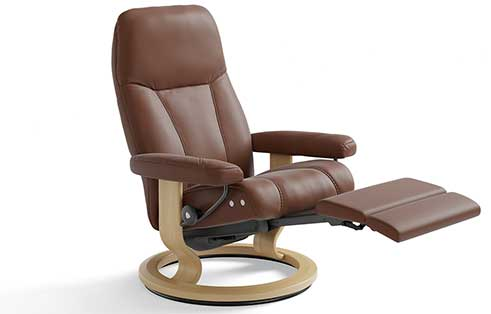 Consul Stressless Recliner with Leg Comfort