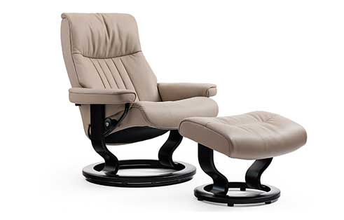 Crown Stressless Chairs and Ottos