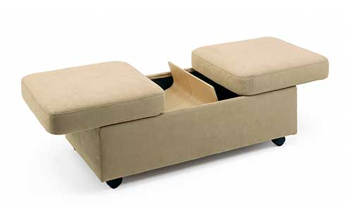 Stressless Double Ottoman and Table