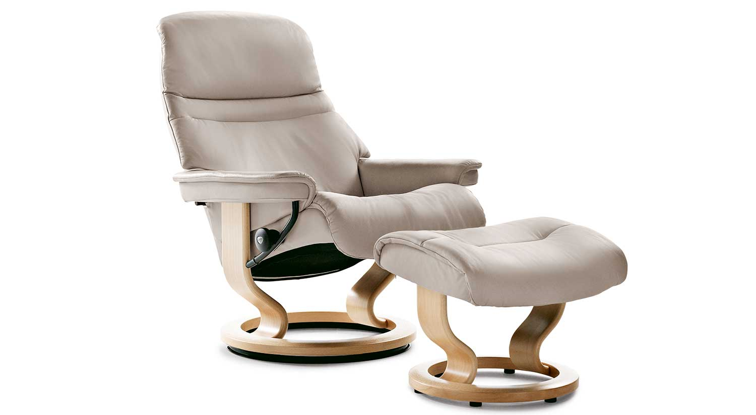 Ekornes Stressless Governor Recliner Stocking Colors For Quick Shipping Are Black Chocolate