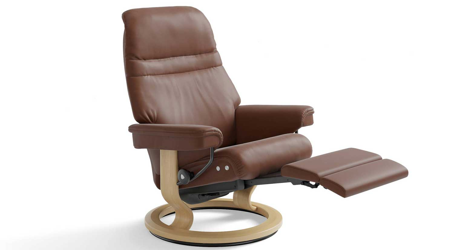 Sunrise Stressless Recliner with Leg Comfort