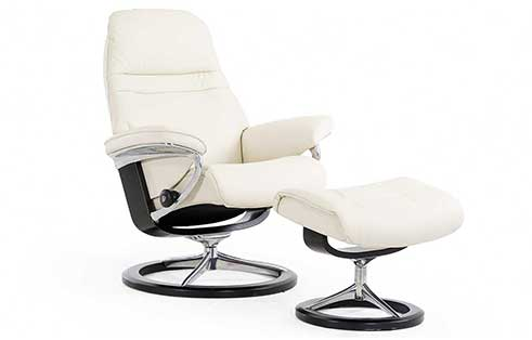 Sunrise Stressless Chair and Ottoman Signature