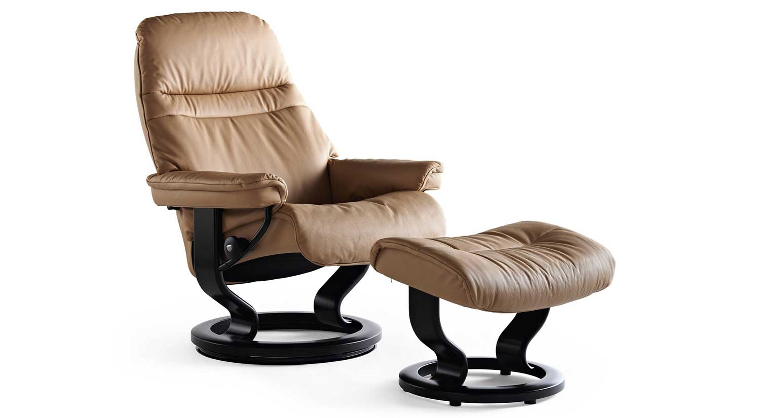 Sunrise Stressless Chairs and Ottos