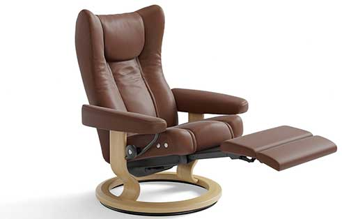 Wing Stressless Recliner with Leg Comfort