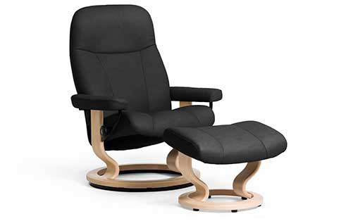 Garda Stressless Chair and Ottoman