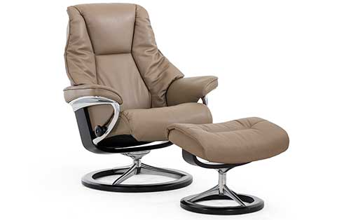 Live Stressless Chair and Ottoman Signature