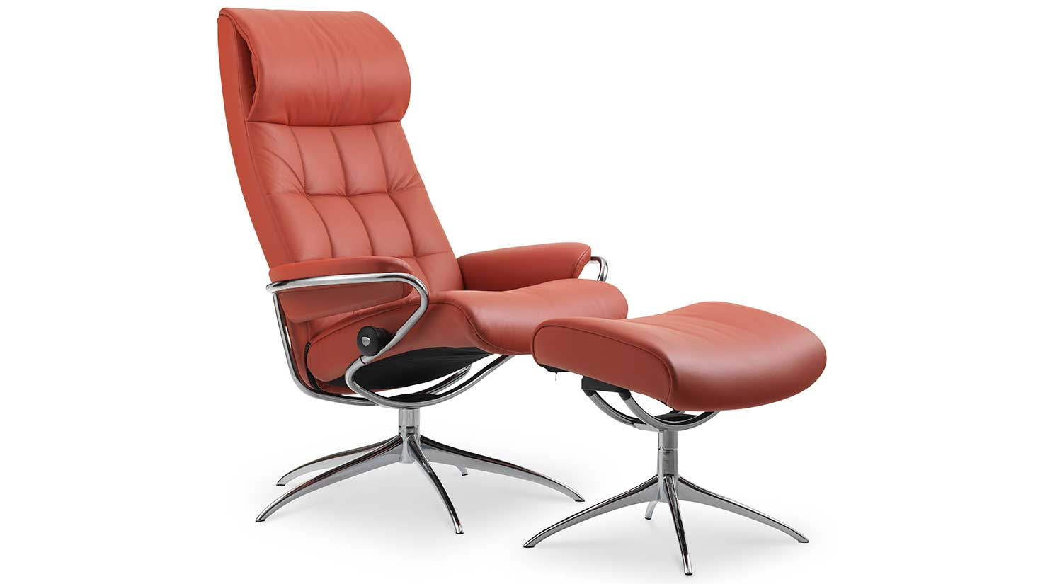 London Highback Stressless Chair and Ottoman