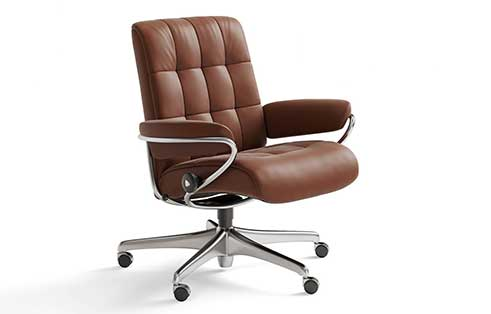 London Stressless Lowback Office Chair