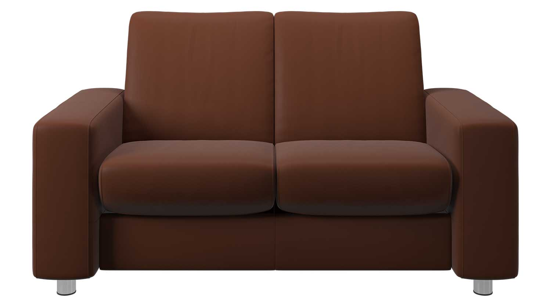Circle Furniture Pause Lowback Stressless Loveseat Reclining Sofa Circle Furniture